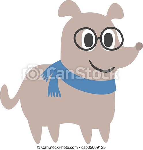 funny dog with glasses - csp85009125