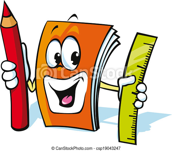 funny exercise book cartoon - csp19043247