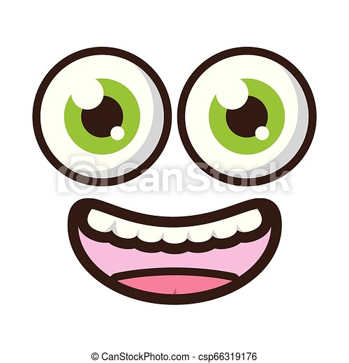 funny face eyes - csp66319176