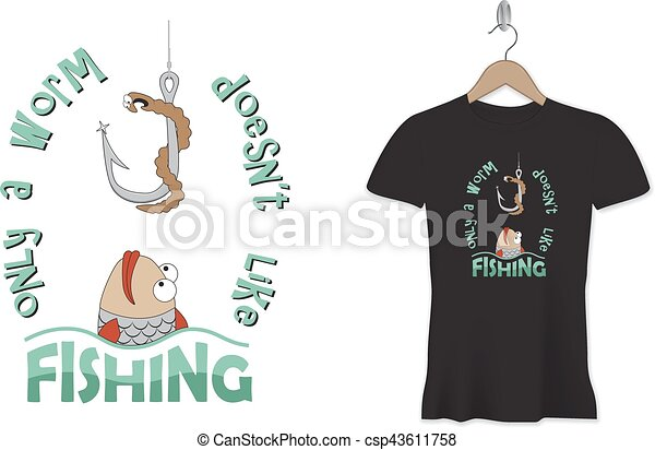 Funny Fishing Tshirt Print Or Sticker Design Vector Template Only - T shirt graphic design template