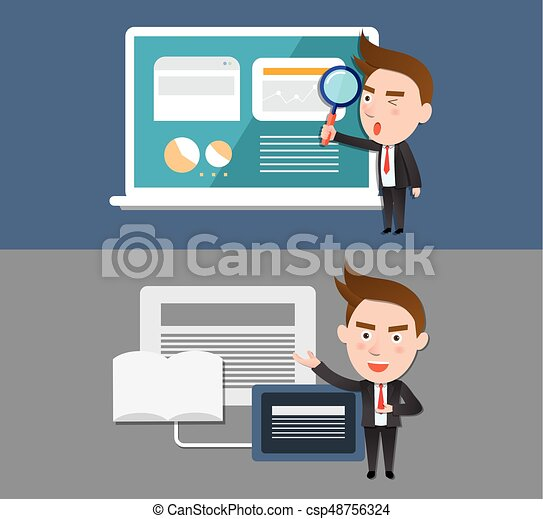 Funny flat character illustration Business series - csp48756324