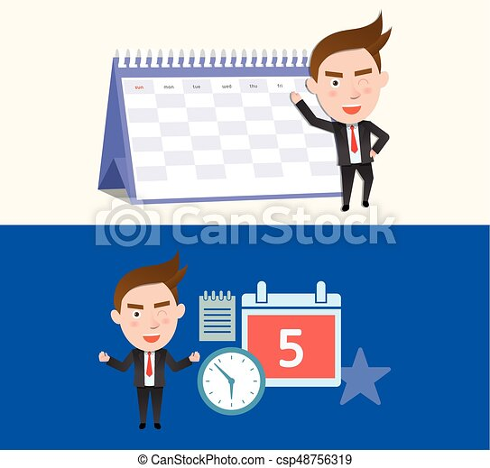 Funny flat character illustration Business series - csp48756319