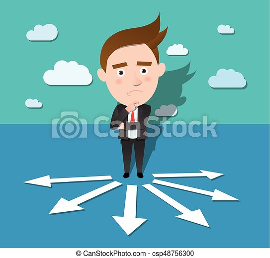 Funny flat character illustration Business series - csp48756300