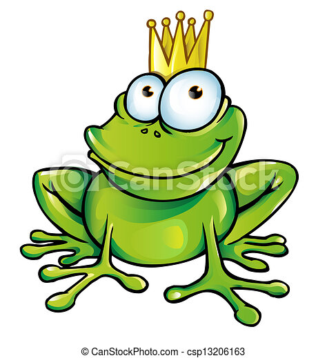 funny frog prince rh canstockphoto com Cartoon Frog Prince Google Pictures of a Frog Prince