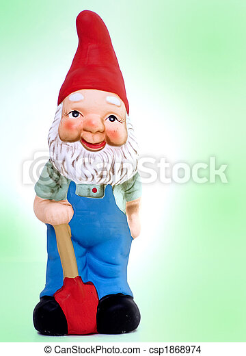 Funny garden gnome - csp1868974