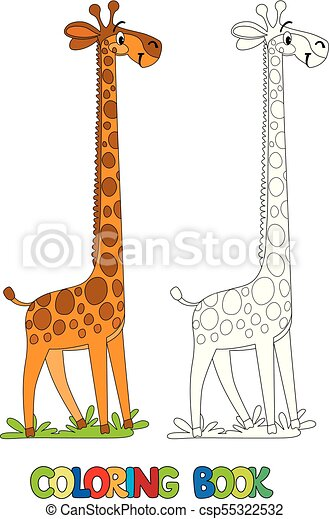 Funny giraffe. coloring book. Coloring book of funny giraffe with ...