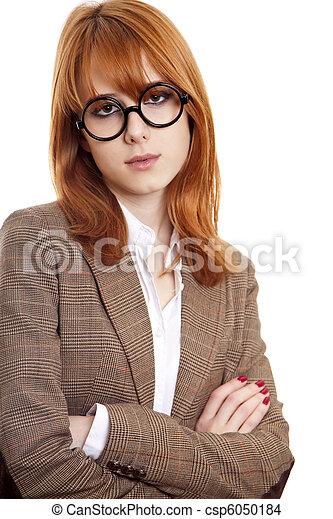 Funny girl in glasses. - csp6050184