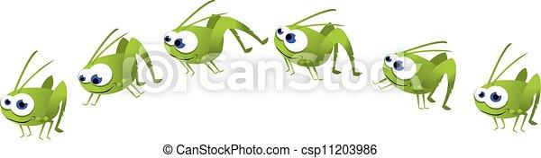 Funny Grasshopper Jumping - csp11203986