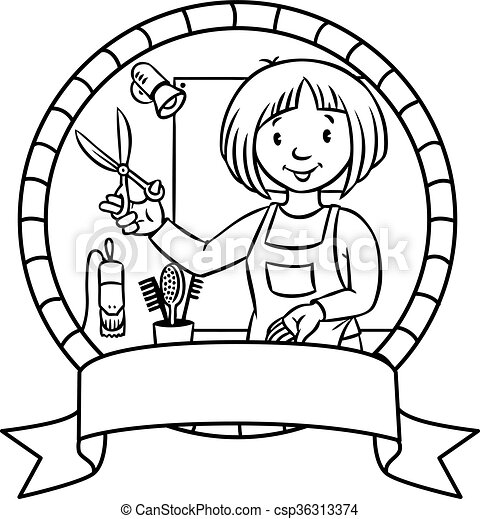 62 Hairdresser Coloring Book Free Images