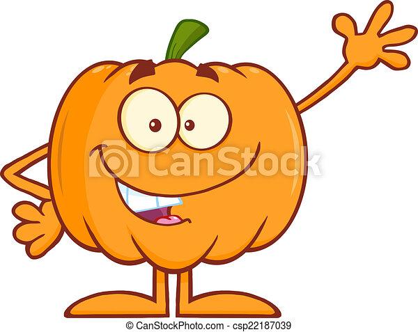 funny halloween pumpkin waving funny halloween pumpkin vectors rh canstockphoto com