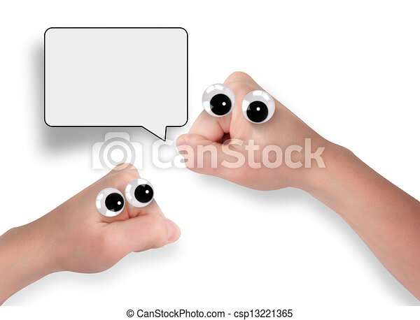 Funny Hand Characters  - csp13221365
