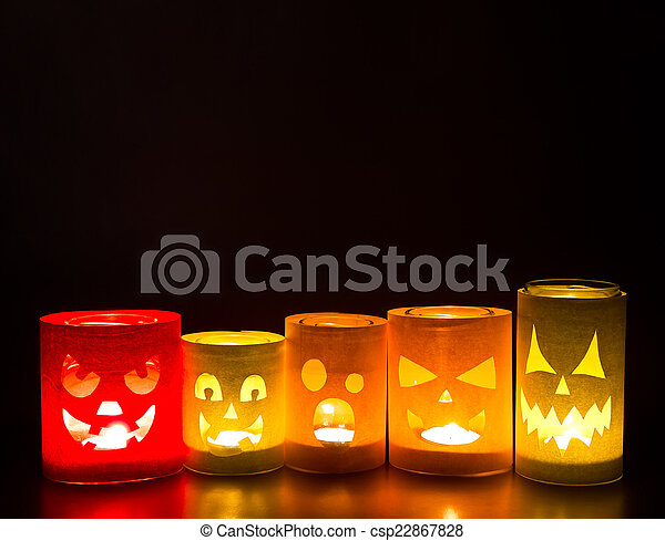 Funny jack-o-lanterns  - csp22867828