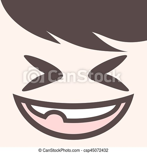 design of funny joke face draw