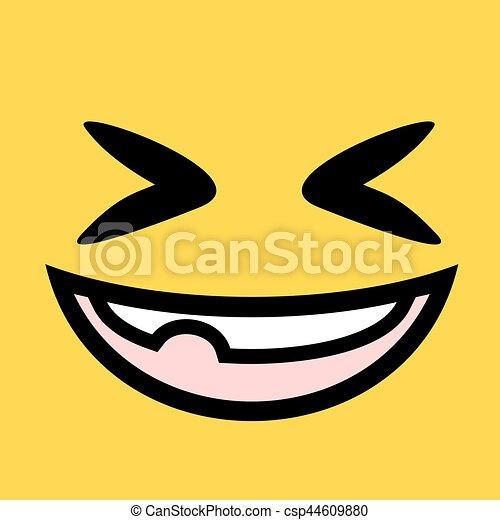 design of funny joke face illustration