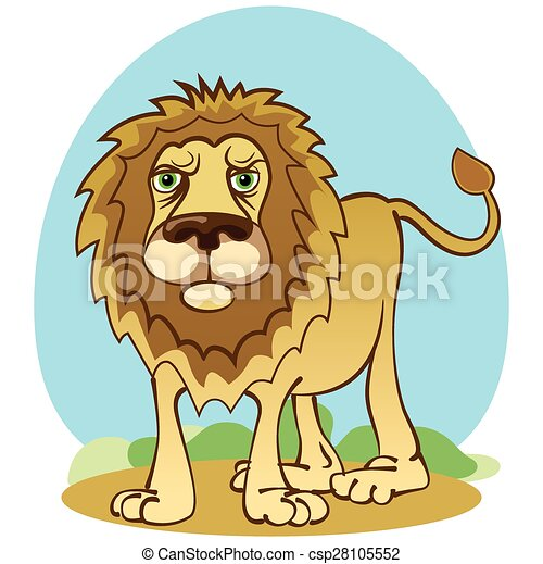 Funny lion in cartoon style. vector illustration.