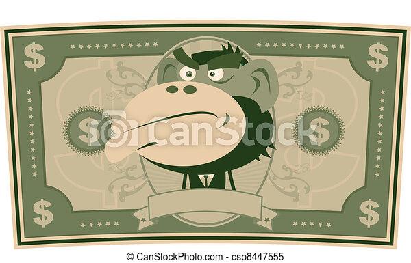 funny money cartoon us dollar illustration of a cartoon american rh canstockphoto com Raining Money Clip Art Animated Money Clip Art