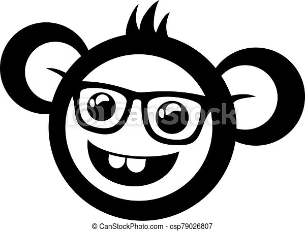 funny monkey with glasses - csp79026807