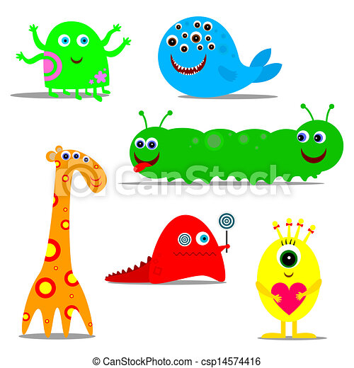 funny monsters - csp14574416