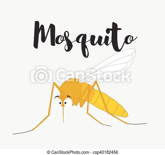Funny Mosquito - csp40182456
