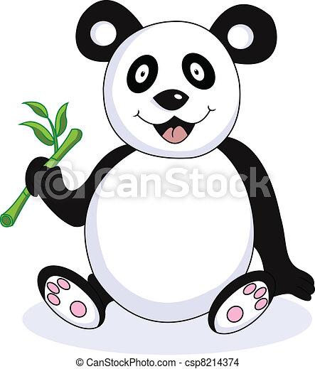 funny panda cartoon - csp8214374
