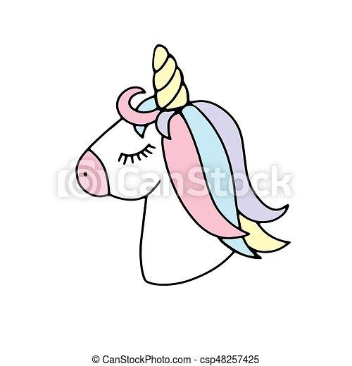 funny pink cartoon unicorn face funny cute cartoon unicorn face