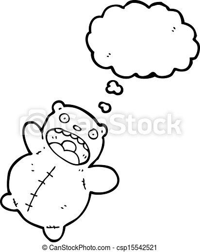 funny polar bear teddy - csp15542521
