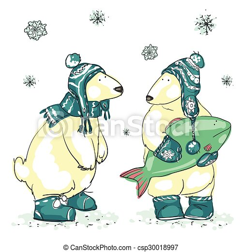 Funny polar bears  - csp30018997