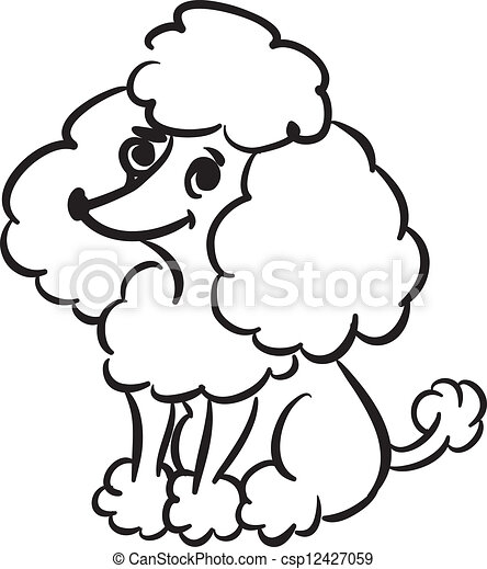 funny poodle black and white sketch of funny little poodle rh canstockphoto com poodle clipart for skirt poodle clip art free