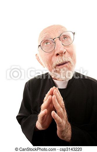 Funny Priest - csp3143220