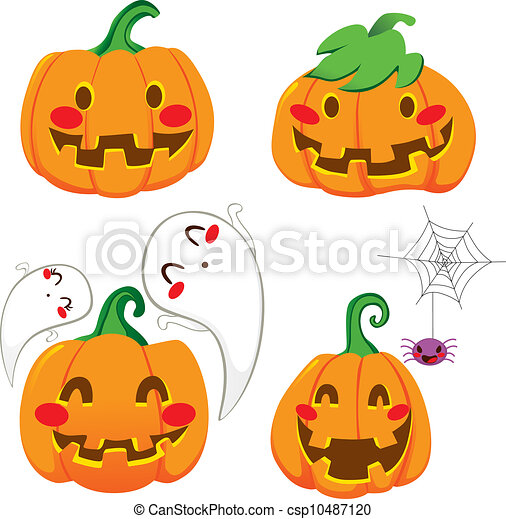 funny pumpkin faces set of four funny pumpkin faces for halloween