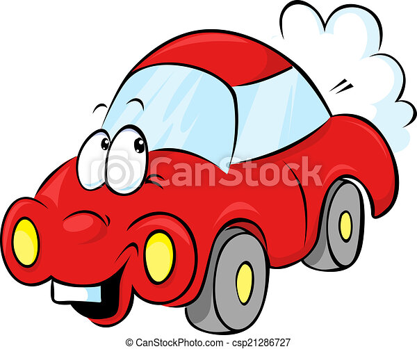 funny red car cartoon vector illustration search clipart drawings rh canstockphoto com red race car clipart red car clipart png