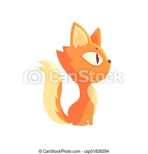 Image of: Vector Image Funny Red Kitten Cute Cartoon Animal Character Side View Vector Illustration Can Stock Photo Funny Red Kitten Cute Cartoon Animal Character Side View Vector