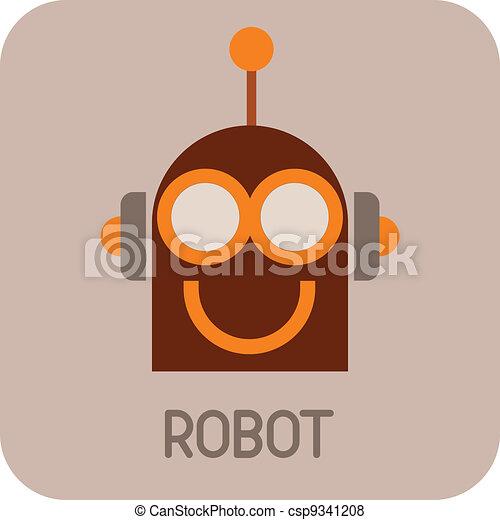 Funny Robot - vector icon - csp9341208