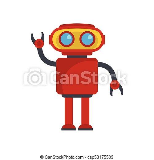 funny robot vector illustration funny red robot vector vector rh canstockphoto com robovector laser robo vector