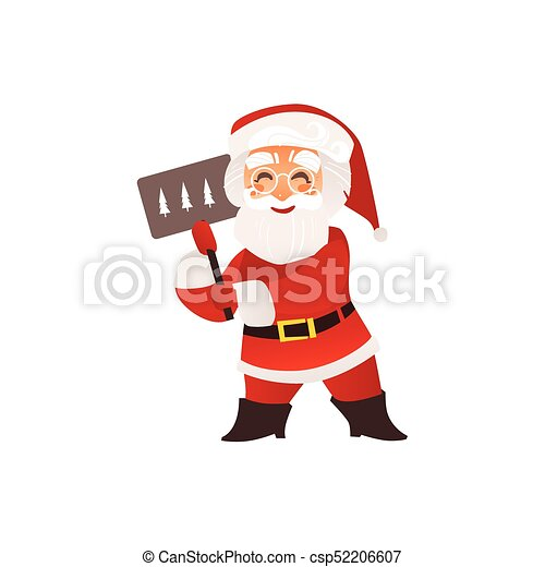 funny santa claus in glasses with christmas sign funny santa claus