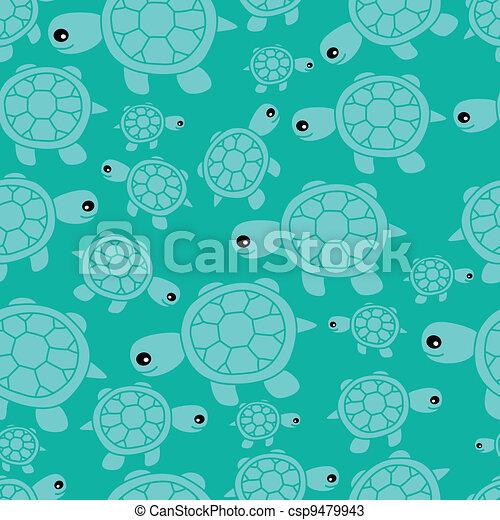 Funny sea seamless pattern - csp9479943