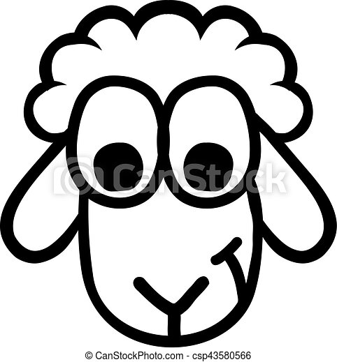 funny sheep head clip art vector search drawings and graphics rh canstockphoto com clipart head profile clipart headstone