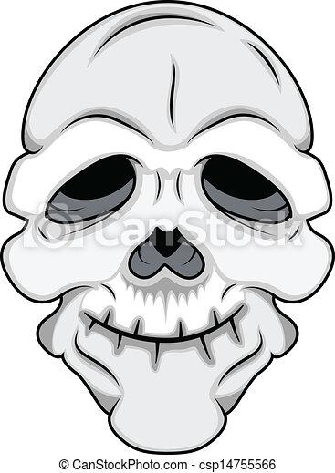 Funny Skull Mask Vector - csp14755566