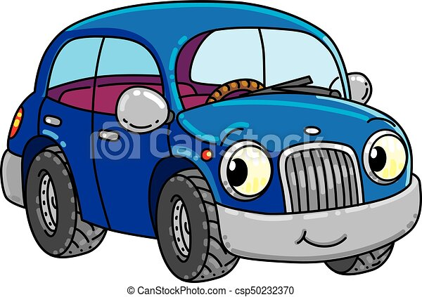 Funny Small Car With Eyes