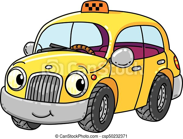 Funny Small Taxi Car With Eyes