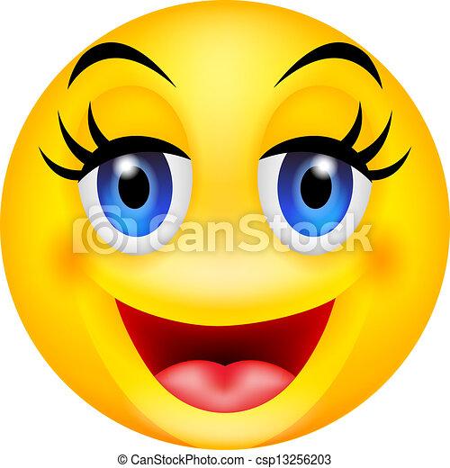 vector illustration of funny smile emoticon vector clipart search rh canstockphoto com smiley clip art free smile clip art cartoon
