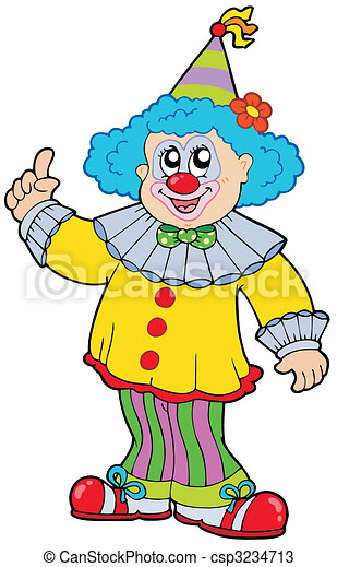 funny smiling clown vector illustration vectors search clip art rh canstockphoto com clipart crown images clip art crowns free