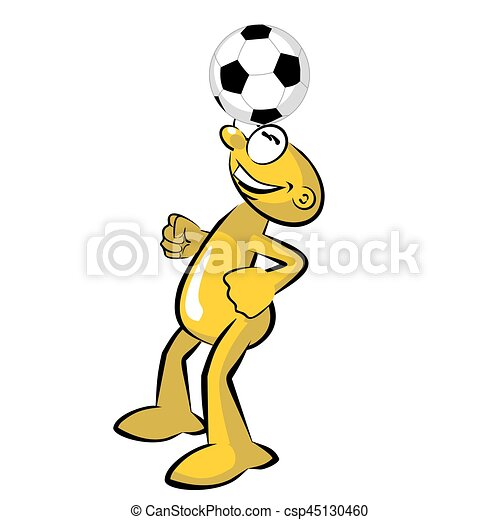 funny soccer player practicing storyboard funny soccer clip rh canstockphoto com soccer player clipart vector soccer player clipart vector