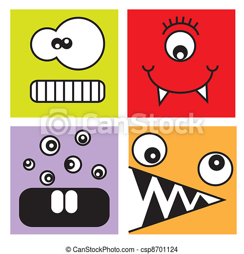 funny stickers monsters eps vector search clip art illustration rh canstockphoto com car stickers clipart clipart stickers free
