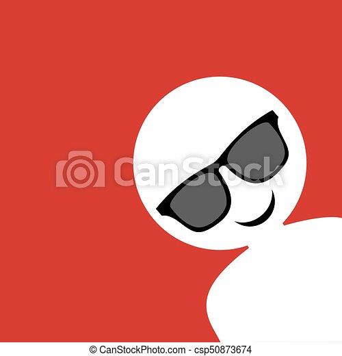 funny sunglasses face - csp50873674