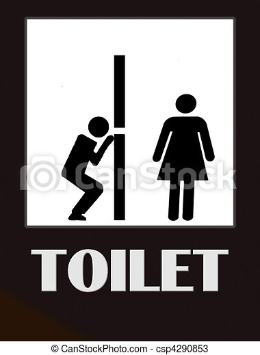 Funny Toilet Sign   Csp4290853