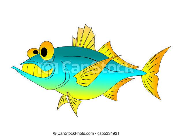funny tuna - csp5334931