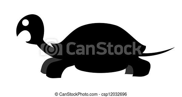 Funny turtle - csp12032696