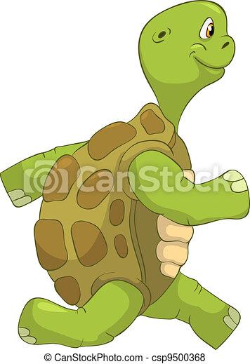 Funny Turtle. Running. - csp9500368