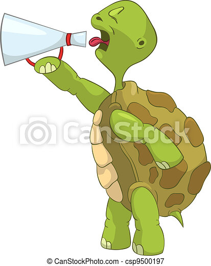 Funny Turtle. Screaming. - csp9500197